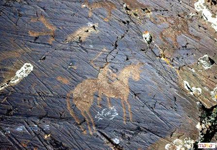 Andronovo Horse Petroglyph