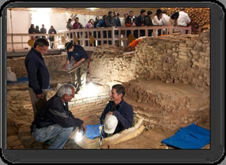 Professor Robin Coningham excavation site of Buddha's Birth