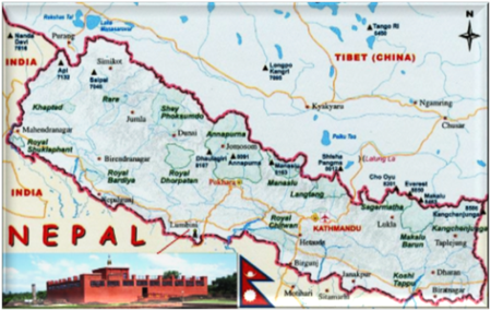 Buddhist Land of Nepal at Limbini