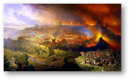 Destruction of Jerusalem and King Herod's Temple by Rome
