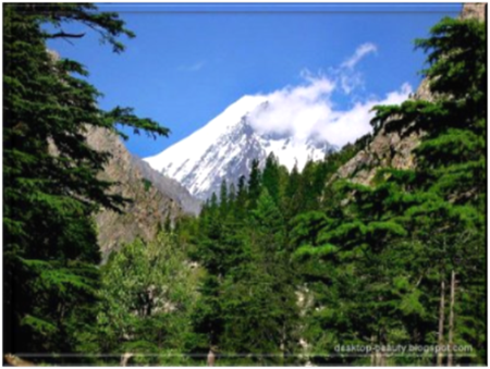 Mount Falaksair reaching 20,528 feet in Swat, Pakistan