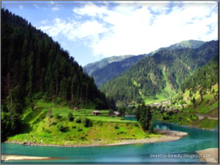 Neelum River in Israelite territory in Kashmir, India