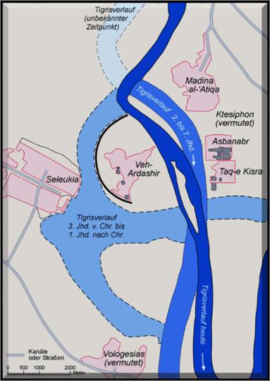 Parthian Capital of Ctesiphon and Seleucia-on-the-Tigris River