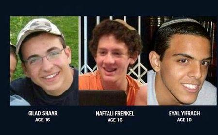 Three Kidnapped Jewish Youth