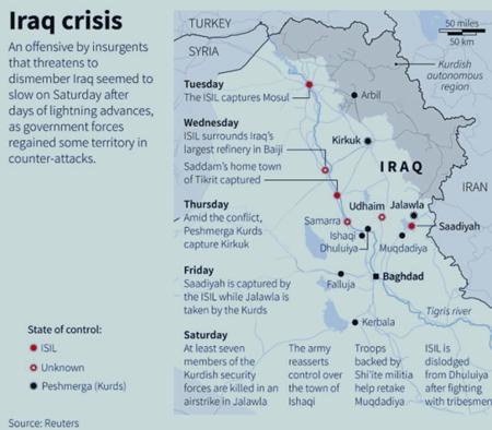 Sunni insurgents town captured