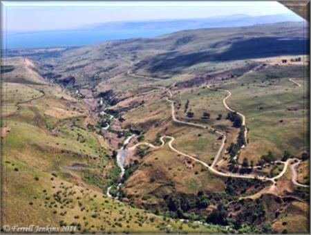 Jordan River Plateau along the Great Rift Valley