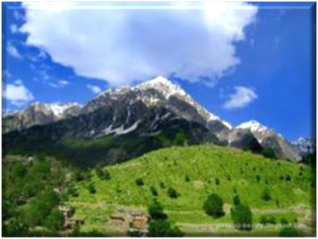 Mountainous Scenery near Kalam in the Swat Valley
