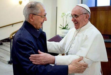 Jesuit General Adolfo Nicholas with Jesuit Pope Francis I