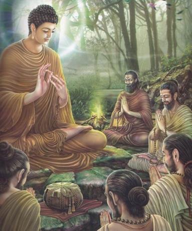 Prince Siddhartha and his Five Disciples