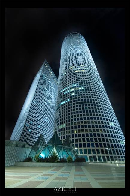Azrieli Center Towers in Tel Aviv