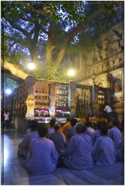 Vajrashila, where Gautama was enlightened under  Bodhi Tree