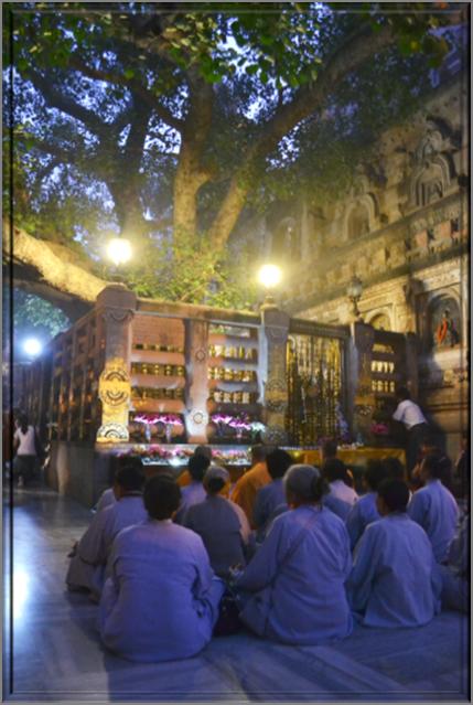 Vajrashila, where Gautama was enlightened under  Bodhi Tree
