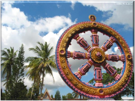 Dharma Chankra Wheel of Law at Wat Phothivihan