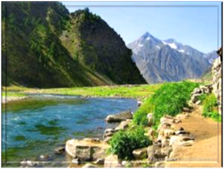 Beautiful Scenery near Kalam in the Swat Valley in Pakistan