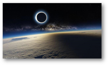 Fake Total Solar Eclipse taken from the International Space Station