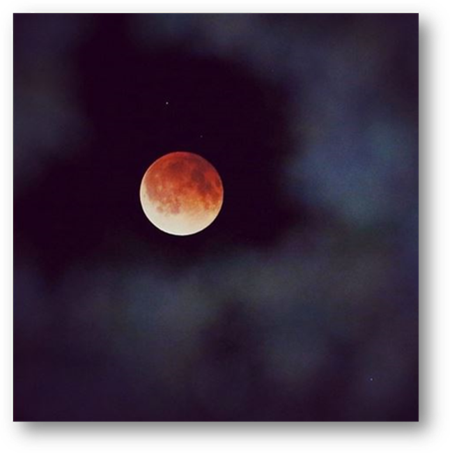 Blood Moon casts its Light over Planet Earth
