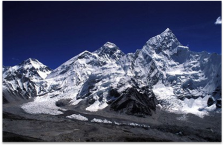 Mount Everest to the North of Nepal