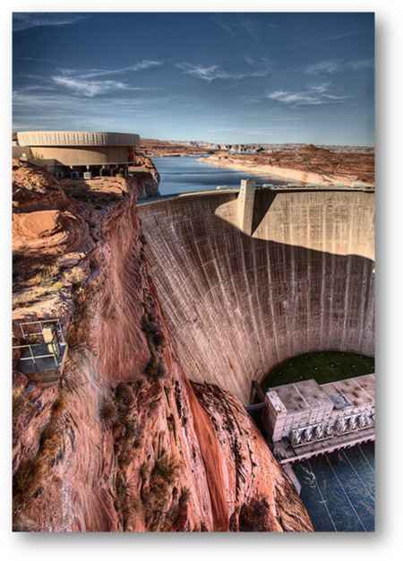 Glenn Canyon Dam in Page, Arizona