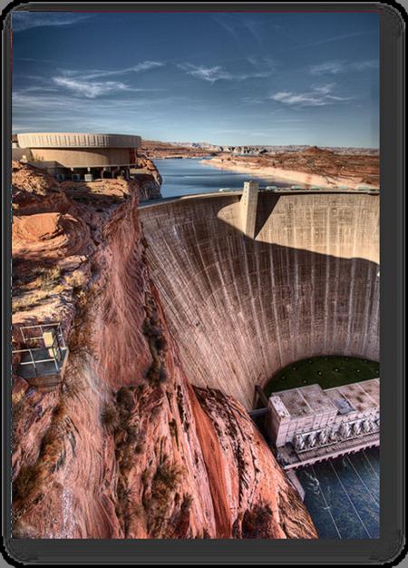 Glenn Canyon Dam in Page, Arizona