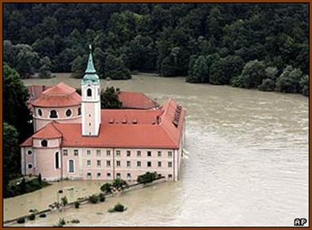 Flood on the Danube in Bavaria