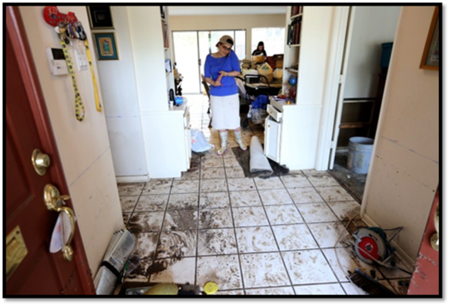 Rabbi Barry Gelman's Flooded Home