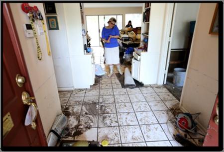 Rabbi Barry Gelman's Flooded Home