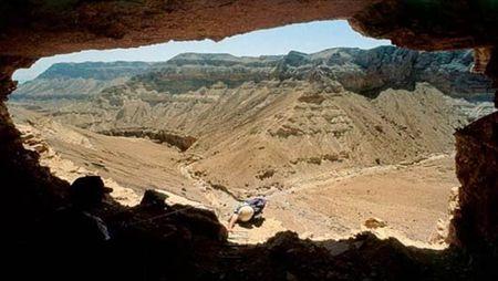 Wadis surrounding a Qumran Cave