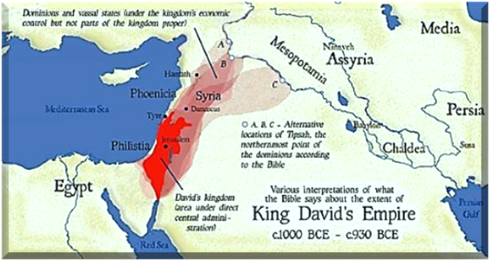 Biblical King David's Kingdom Greater Israel