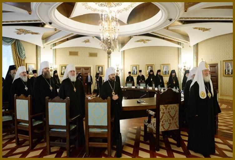 Patriarch Kirill at the Russian Orthodox Church Supreme Council