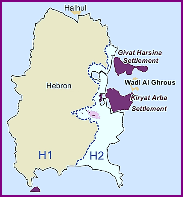 Kiryat Arba has four neighborhoods the Kirya, Ahmoret Yitzhak, Ramat Mamre (called Givat Harsina) and then Givot Avo