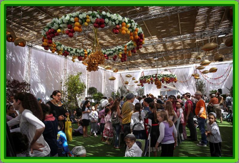 Celebrating Sukkah at the Safra Square in Jerusalem