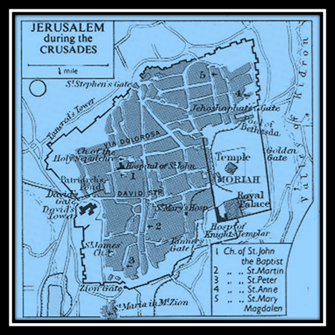 City of Jerusalem at the Time of the Crusade