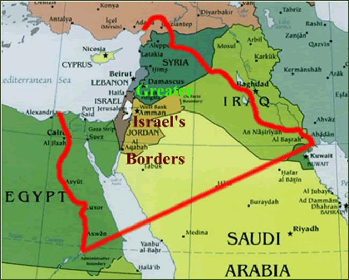 Futuristic Greater Israel restored as the Commonwealth of Israel