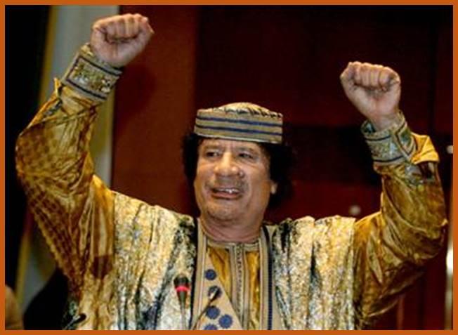 Libyan President Muammar Gaddaf