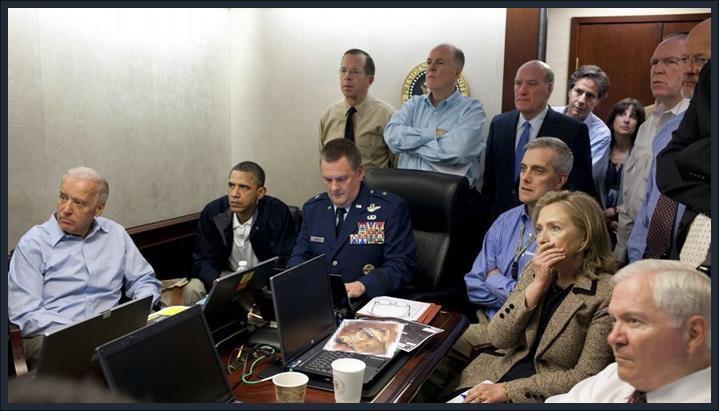 Obama Hillary watching destruction of the Benghazi Consulate