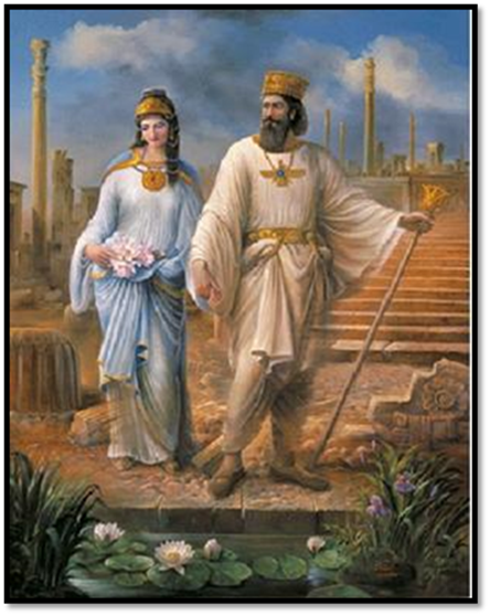 Pasargadae (Tribe of Gad) Israelite Cyrus the Great and Jewess wife, Queen Esther