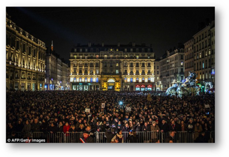 Vigil for Charlie Hebdo paper in Paris