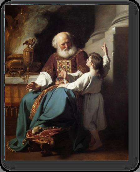 High Priest Eli listening to Samuel