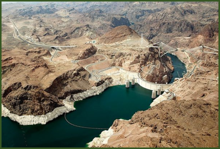 Decline of Water from Hoover Dam in Southern California