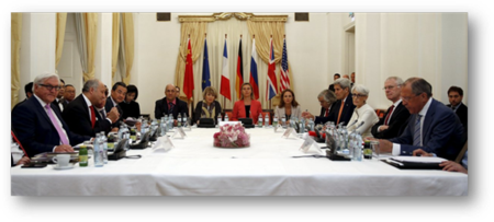 Signatures of the Nuclear Arms Agreement with Iran