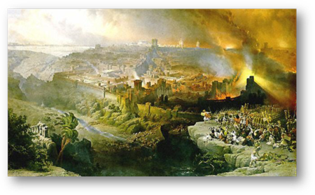 Destruction of the Holy Temple and Jerusalem in 69 CE by the Roman Army