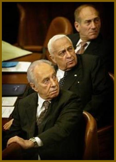 Evil Shepherds (Erev Rav) Israeli PMs Shimon Peres, Ariel Sharon and Ehud Olmert
