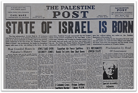 State of Israel was Born with its Declaration of Independence