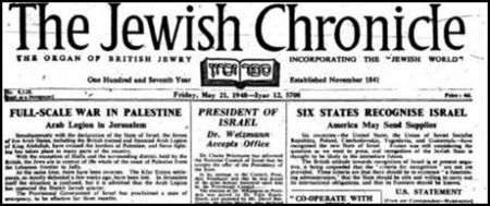 1947 War in Jewish Palestine against Coalition force of Egypt, Jordan and Syria
