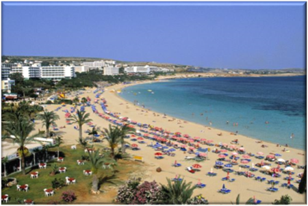 Vacation Land of Cyprus' beaches under Temperatures of 57C (134.6F)