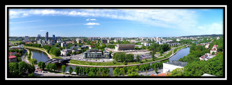 Modern Vilnius, the Capital of Lithuania