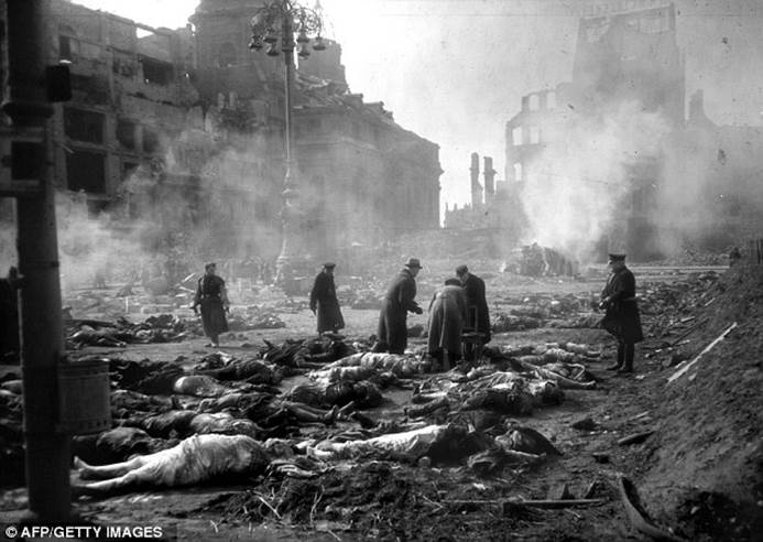 Dresden Bombing in Germany by the Allied Forces
