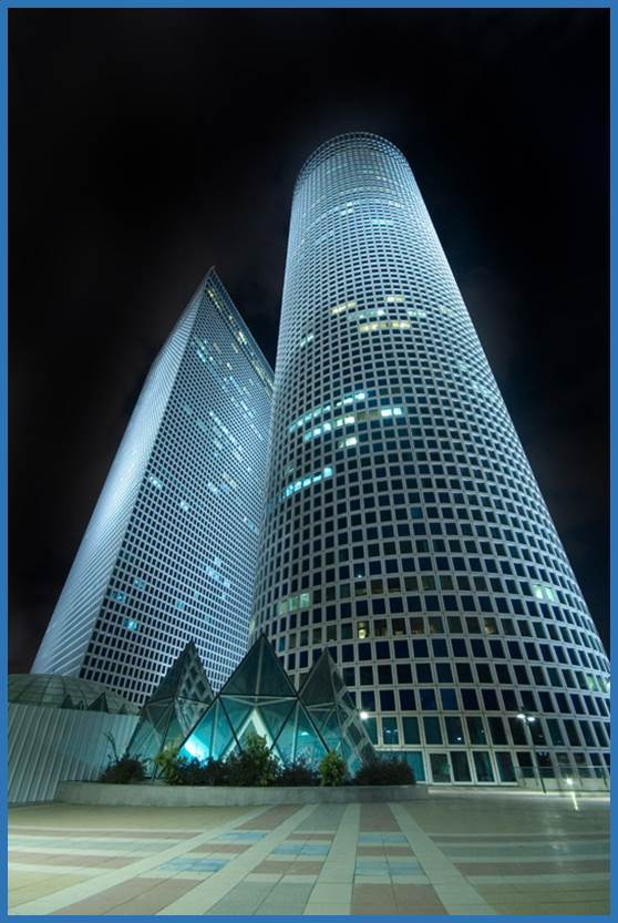 Azrieli Towers in Tel Aviv, Israel