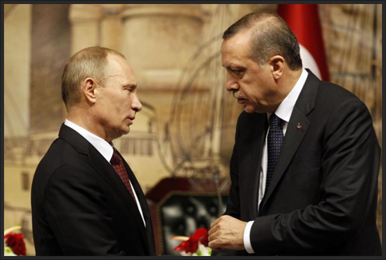 Vladimir Putin with Turkey President Recep Ergodan