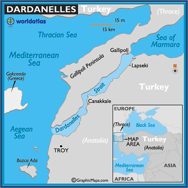 Turkey controlled, with NATO protection of the Dardanelles Stra